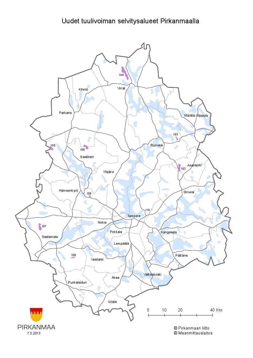 Sastamalasta Loytyi Kaksi Uutta Tuulivoima Aluetta Katso Kartta