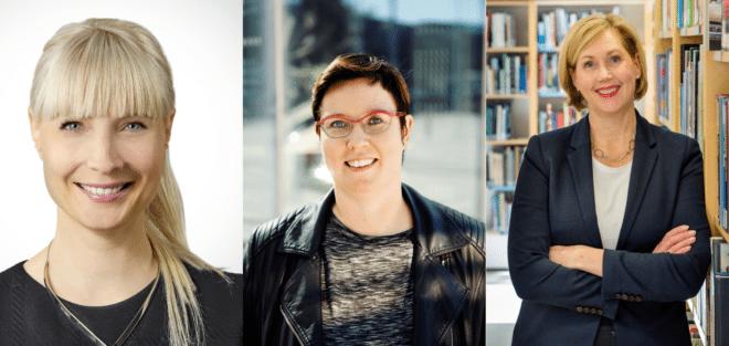Laura Huhtasaari, Merja Kyllönen, Tuula Haatainen