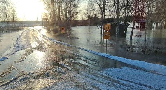 Tulvatie, Huittinen