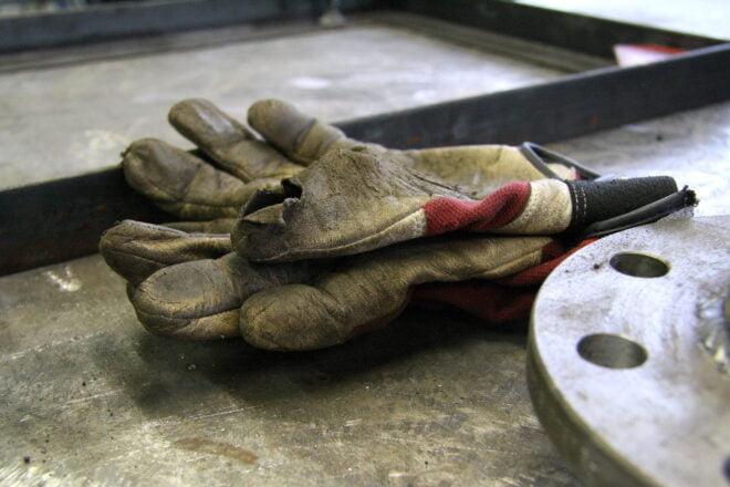 Työ, käsineet