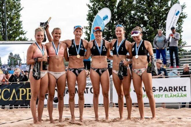 Beach volley, naisten SM-mitalistit