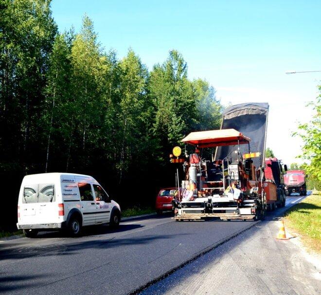 Päällystystyömaa, asfaltointi